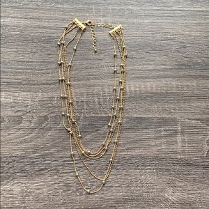 💕Gold Necklace with Silver Beads💕